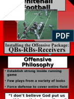 Whitehall College Offensive Installation QB RB WR