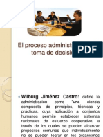 El Proceso Administrativo y La Toma de Decisiones Sesion 1