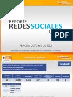 Reporte Redes Sociales Octubre 2012