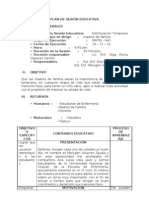 ESTIMULACION TEMPRANA - PLAN DE SESIÓN EDUCATIVA