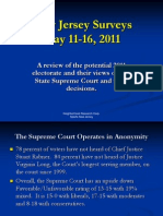 Public Perceptions of the New Jersey Supreme Court - May, 2011