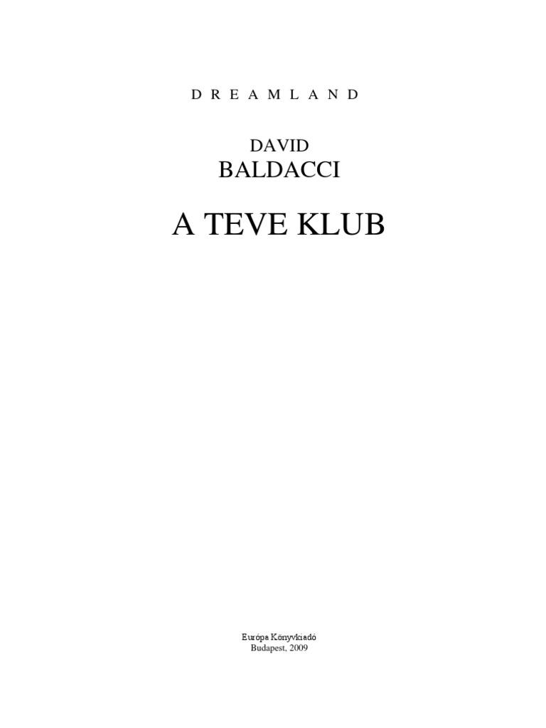 David Baldacci - A Teve Klub 1423a6ee1d