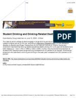 Student Drinking and Drinking-Related Deaths Are Increasing