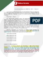 Prova Contabilidade ICMS RJ 11 Parte 2 Comentada