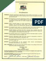 City of Garden City Idaho Non Profit Day Proclamation