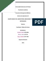 EQUIPO BÁSICO DE LABORATORIO Y MEDICIONES