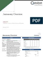 autonomy pitchbook