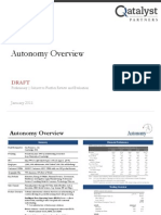autonomy pitchbook