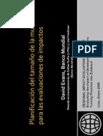 Tamaño de la muestra para Evaluaciones de Impacto _Banco Mundial