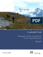 Garibaldi Park Draft Management Plan Amendment