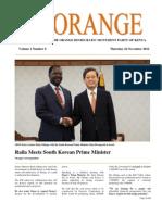 The Orange Newsletter Volume 1 Number 6. 22 November 2012