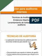 Auditores Internos - Tecnicas de Auditoria