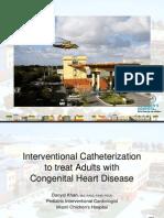 Interventional Cath to Treat ACHD