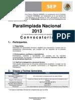 Convocatoria PN 2013