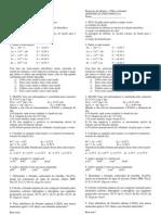 Testinho - Pilhas e Formulas