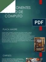 Componentes Equipo de Computo