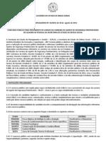 Edital Concurso Agente Penitenciario 2012