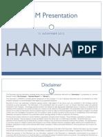 Hannans AGM Presentation