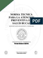 Norma Tecnica Para La Atencion y Promocion en Salud Oral 2009