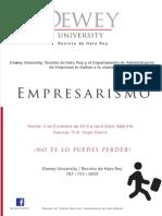 Flyer Empresarismo (Charla Hato Rey)