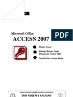 Materi Belajar MS. Access 2007