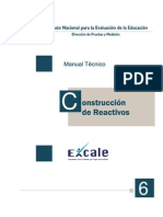 INEE construcción de reactivos