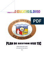 Plan de Gestion Uso Tic Centro Educativo El Diviso