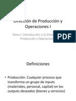 Dirección de Producción y Operaciones I _ José Luis Martínez