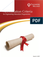 Accreditation Criteria for Engineering Education Programmes FINAL Amended Mar 09