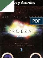 Cancionero Proezas Miel San Marcos