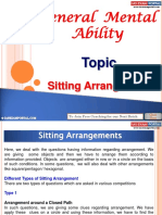 General Mental Ability Sitting Arrangements