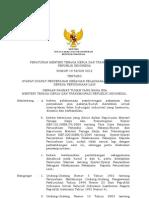 Permenaker No 19 Th 2012 Ttg Syarat-syarat Penyerahan Sebagian Pelaksanaan Pekerjaan Kepada Perusahaan Lain