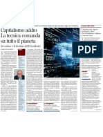 Capitalismo Addio, Comanda La Tecnica Di Emanuele Severino - Corriere Della Sera 22.11.2012