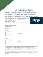 Scratch Notes on Quantum Logic, Turing, Goedel, Nash