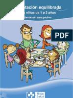 Alimentación equilibrada en niños de 1 a 3 años