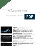 Analysing Rock Music - Carnival of Rust
