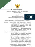Permenaker No 18 Th 2012 Ttg Pelayanan Informasi Publik Di Kementerian Tenaga Kerja Dan Transmigrasi