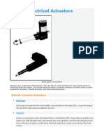 Vehicle Electrical Actuators