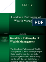 Gandhian Philosophy of Wealth Management BBA N107 UNIT IV