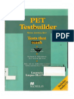 Past Papers PET tests