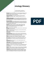 Valve terminology and Glossary