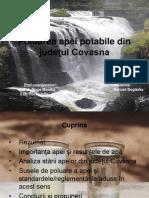 Poluarea apei potabile din judeţul Covasna