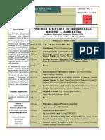 Programacion Definitiva Primer Simposio Minero Ambiental Cucuta Colombia
