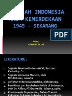 Sejarah Indonesia Zaman Kemerdekaan 1945 - Sekarang