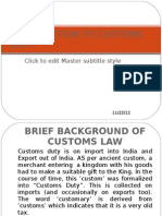 Introduction to Customs Duty