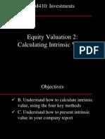 BM410-16 Equity Valuation 2 - Intrinsic Value 19Oct05