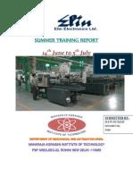 SUMMER TRAINING REPORT AT Elin Electronics Ltd. Gzb.