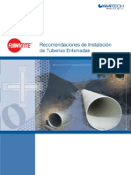 Manual de instalación de tuberias enterradas