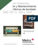 Melco Descatalogadas Melco EMT 10T-F1 10-4 y 10-4T Manual de Instalacion Operacion y Mantenimiento