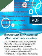Obtrucción de las vías respiratorias